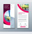 dl flyer design business template for dl flyer vector image vector image