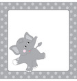 Elephant Card vector image vector image