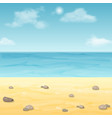 empty summer sea beach vector image