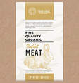 fine quality organic rabbit abstract meat vector image vector image