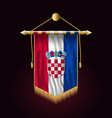 flag of croatia festive vertical banner wall vector image vector image
