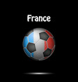 flag of france in the form of a soccer ball vector image
