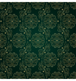 Floral vintage seamless pattern on green backgroun vector image