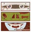 halloween comic strip banner vector image vector image