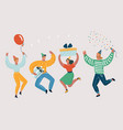 happy people celebrate an important event vector image vector image