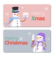 happy winter holidays merry christmas and xmas vector image vector image
