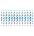 Heterosexual symbol shape halftone array vector image