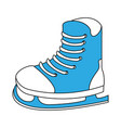ice skate equipment vector image vector image