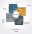 infographic business project for four positions vector image