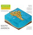 isometric 3d south america flora and fauna map vector image vector image
