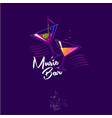 logo music bar olive note cocktails vector image vector image