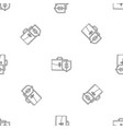 money leather case pattern seamless vector image