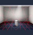 museum laser beam security system realistic