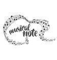 musical notes icon love music calligraphy text vector image vector image