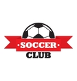 New soccer club sign vector image vector image