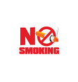 no smoking sign color vector image