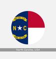 north carolina round circle flag vector image vector image