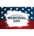 on usa national memorial day usa vector image