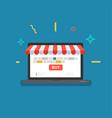 online shop web store vector image vector image