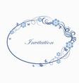 oval simple ornamental frame vector image
