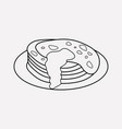 pancake icon line element of vector image