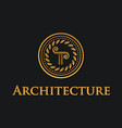 pillar symbol of architecture vector image vector image