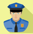 policeman avatar icon flat style vector image vector image