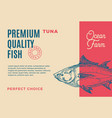 premium quality tuna abstract fish vector image