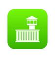 prison tower icon digital green vector image vector image