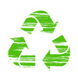 recycle sign drawing for paint brush ecology vector image vector image