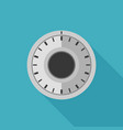 safe lock flat icon vector image