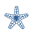 sea starfish single icon separate isolated vector image