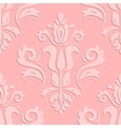 Seamless Oriental Pattern With 3D Elements vector image vector image