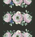 seamless pattern with delicate ranunculus vector image