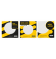 set advertising banners in black yellow colors vector image