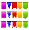 set festival flags of different colors and shapes vector image vector image