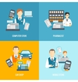 Set icons salesman flat vector image