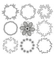 set of circle isolated frames cute natural round vector image vector image
