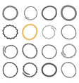 set of hand drawn circle frames in ethnic style vector image vector image