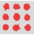 set of spots of paint Silhouettes the stain vector image vector image