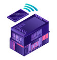 smart house icon isometric style vector image vector image