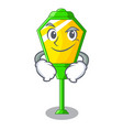 smirking lamp post in isolated on mascot vector image vector image