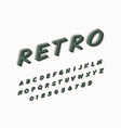 stylish trendy logotype retro bar 3d colorful font vector image vector image