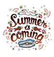 summer time banner for promotion poster vector image vector image