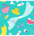 Summer vacation flat style seamless vector image