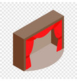 theater stage with a red curtain isometric icon vector image vector image