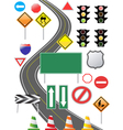 traffic sign icon vector image vector image