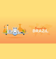 travel to brazil airplane with attractions vector image