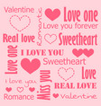 valentine card of love vector image vector image