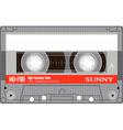 Vintage audio cassette tape vector image vector image